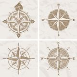 Vintage vector compass rose royalty free illustration