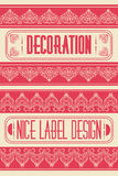 Vintage vector cool labels decoration elements, frames, nice label design Stock Photos