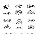 Vintage Vector Decorative Elements and Ornaments Stock Images