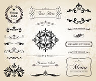 Vintage Vector Decorative Ornament Borders And Page Dividers Stock Images