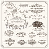 Vintage Vector Design Elements Collection Royalty Free Stock Photo