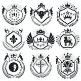 Vintage vector design elements. Retro style labels, heraldry. Cl Royalty Free Stock Images