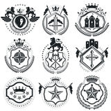 Vintage vector design elements. Retro style labels, heraldry. Cl Royalty Free Stock Photography