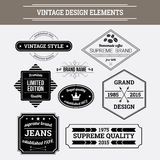 Vintage vector design elements. Retro style typographic labels Stock Photos
