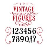 Vintage  vector figures. Hand drawn vintage vector figures.Nice font for your design Royalty Free Stock Photography