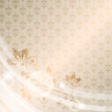 Vintage vector floral  background Royalty Free Stock Photo
