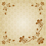 Vintage vector floral  background Stock Photo