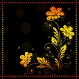 Vintage vector floral  background Stock Images