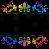 Vintage vector floral  background Royalty Free Stock Image