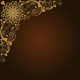 Vintage vector  floral  background Stock Images