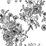 Vintage vector floral seamless pattern Royalty Free Stock Photos