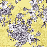 Vintage vector floral seamless pattern Stock Photo