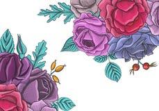 Vintage vector floral composition Stock Image