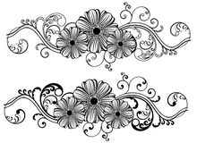 Vintage VEctor Flower. Floral  design, handmade vintage style Royalty Free Stock Photography