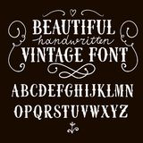 Vintage vector font stock illustration