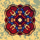 Vintage vector four sided symmetrical mandala Stock Image