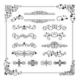 Vintage Vector Frame Border Divider Corner Royalty Free Stock Images