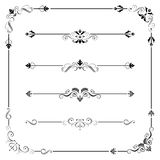 Vintage Vector Frame Border Divider Corner Royalty Free Stock Photos