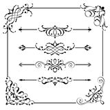 Vintage Vector Frame Border Divider Corner Royalty Free Stock Photography