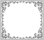 Vintage vector frame. Circle frame with vintage floral ornament. Vector image for your designs Stock Photo