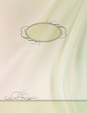 Vintage vector frame silk wave background Royalty Free Stock Photography
