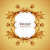 Vintage vector frame in victorian style. Hand Stock Photos