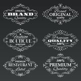 Vintage vector frames banners labels. Stock Image