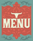 Vintage Vector grill - steak - restaurant menu design. Western style - eps available Stock Photography