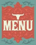 Vintage Vector grill - steak - restaurant menu design Stock Photography