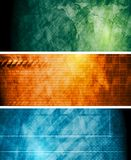 Vintage vector hi-tech banners Stock Image