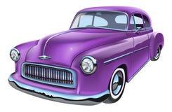 Vintage vector illustration of classic american car. Vintage classic american car. Isolated on white background vector illustration