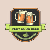 Vintage vector illustration, concept or logo pub, beer. Royalty Free Stock Images