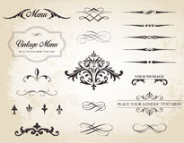 Vintage Vector Label Page Dividers and Borders Stock Photo
