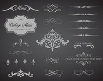 Vintage Vector Label Page Dividers and Borders Stock Image