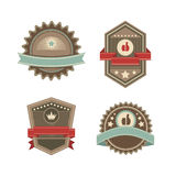 Vintage vector labels Stock Photos