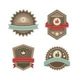 Vintage vector labels Stock Photos