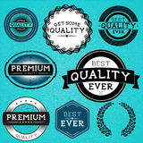 Vintage Vector Labels Royalty Free Stock Photo