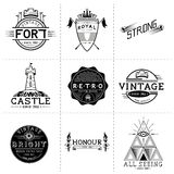 Vintage Vector Labels Stock Images