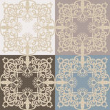 Vintage Vector lace pattern set in Eastern style background. Ornate decor element for design.  Stock Images