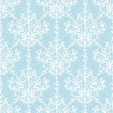 Vintage Vector Light Blue Branches Damask Seamless Stock Photo