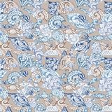 Vintage Vector Nautical Pattern Stock Photography