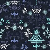 Vintage vector ornamental pattern fabric Royalty Free Stock Images