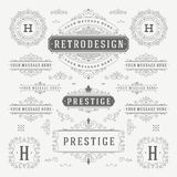 Vintage Vector Ornaments Decorations Design Royalty Free Stock Photos