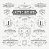 Vintage Vector Ornaments Decorations Design Royalty Free Stock Images
