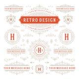 Vintage Vector Ornaments Decorations Design Stock Image