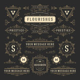 Vintage Vector Ornaments Decorations Design Elements royalty free illustration