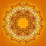 Vintage vector pattern. Vector mandala. Flourish Royalty Free Stock Photo