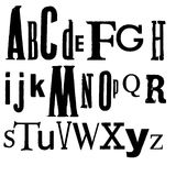 Vintage Vector Printed Alphabet. Royalty Free Stock Photos