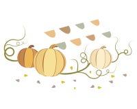 Vintage vector pumpkins Stock Photo