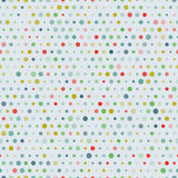 Vintage vector randome sizes dots seamless pattern Stock Images